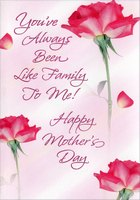 Roses on Pink: Like Family (1 card/1 envelope) Designer Greetings Mother's Day Card