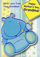 Blue Hippo: Grandma (1 card/1 envelope) Designer Greetings Mother's Day Card
