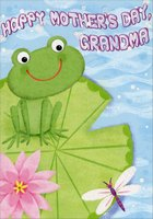 Frog on Lily Pad: Grandma (1 card/1 envelope) Designer Greetings Mother's Day Card