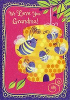 Smiling Bees: Grandma (1 card/1 envelope) Designer Greetings Mother's Day Card