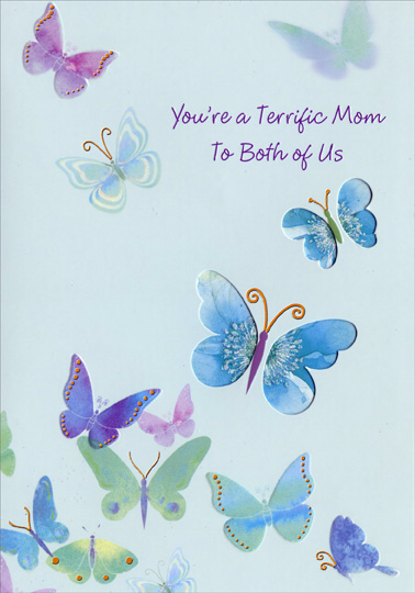 Sensational Die Cut Butterfly Windows Mom Mothers Day Card By Personalised Birthday Cards Xaembasilily Jamesorg