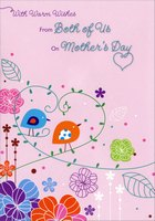 Two Birds on Heart Shaped Vine: Mother (1 card/1 envelope) Designer Greetings Mother's Day Card