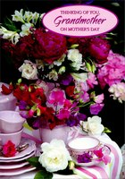 Flowers and Tea Cups: Grandmother (1 card/1 envelope) Designer Greetings Mother's Day Card