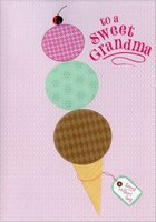 Ice Cream with Red Gem: Grandma (1 card/1 envelope) Designer Greetings Mother's Day Card