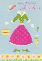 Hat, Dress, Purse and Umbrella: Grandma (1 card/1 envelope) Designer Greetings Mother's Day Card