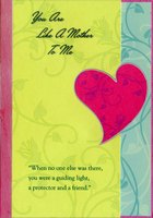 Silver Trim Die Cut Heart: Like A Mother (1 card/1 envelope) Designer Greetings Mother's Day Card