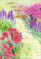 Path Through Colorful Blooms (1 card/1 envelope) Designer Greetings Mother's Day Card