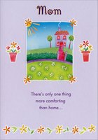 Purple House on Hilltop in Frame: Mom (1 card/1 envelope) Designer Greetings Mother's Day Card