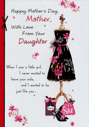 Black dress on stand mother mothers day card by designer greetings black dress on stand mother mothers day card m4hsunfo