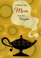 Genie Lamp: Mom (1 card/1 envelope) Designer Greetings Mother's Day Card