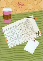 Gold Foil Planner and Coffee Cup: Mom (1 card/1 envelope) Designer Greetings Mother's Day Card