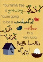 Birdhouse and Nest: Mother (1 card/1 envelope) Designer Greetings Mother's Day Card