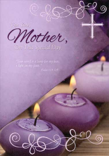 3 purple candles mother religious mothers day card by designer 3 purple candles mother religious mothers day card m4hsunfo