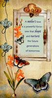 Butterflies and Rustic Window (1 card/1 envelope) Designer Greetings Mother's Day Card
