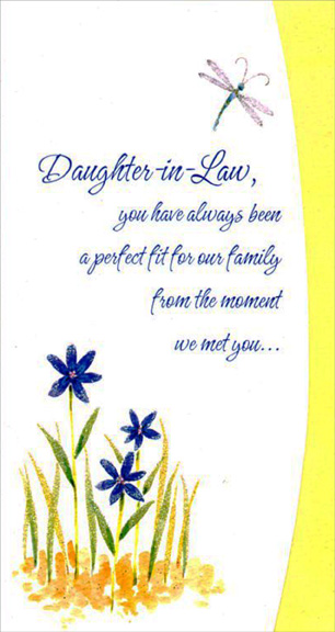 Dragonfly and blue flowers daughter in law mothers day card by dragonfly and blue flowers daughter in law mothers day card m4hsunfo