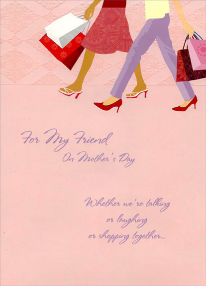 Shoppers walking friend mothers day card by designer greetings m4hsunfo