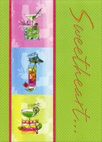 3 Cocktails: Sweetheart (1 card/1 envelope) Designer Greetings Mother's Day Card