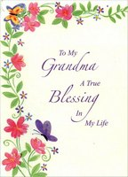 Grandma: A True Blessing (1 card/1 envelope) Designer Greetings Religious Mother's Day Card