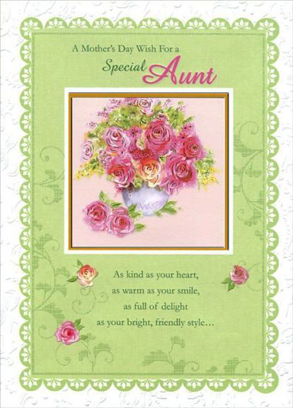 Search details curiosities greeting cards and papercards green framed die cut window aunt 1 card1 envelope mothers m4hsunfo