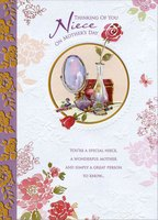 Mirror, Perfume and Brush: Niece (1 card/1 envelope) Designer Greetings Mother's Day Card
