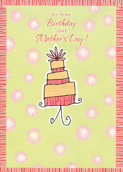 Layered Birthday Cake Mothers Day Card by Designer Greetings