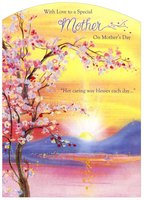 Blossoms at Sunrise Die Cut: Mother (1 card/1 envelope) Designer Greetings Mother's Day Card