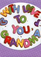 With Love Cookies: Grandma (1 card/1 envelope) Designer Greetings Mother's Day Card