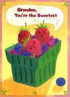 Sweetest Fruit Cup: Grandma (1 card/1 envelope) Designer Greetings Mother's Day Card