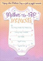 Onesie Die Cut Detachable Keepsake: Mother-to-Be (1 card/1 envelope) Designer Greetings Mother's Day Card