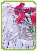 Gerbera Daisies in Glass Jar: Mom (1 card/1 envelope) Designer Greetings Mother's Day Card