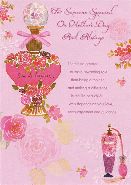 Perfume bottle someone special mothers day card by designer greetings m4hsunfo