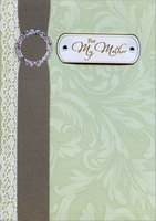 Lace and Fabric Belt with Tip On Gems: Mother (1 card/1 envelope) Designer Greetings Premier Collection Mother's Day Card