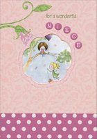 Fairies on Tree Branch Die Cut Window: Niece (1 card/1 envelope) Designer Greetings Birthday Card