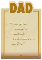 Die Cut Dad, Gold Foil Lettering and Frame Top Fold (1 card/1 envelope) Designer Greetings Birthday Card