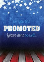 Stars and Stripes Military Promotion (1 card/1 envelope) Designer Greetings Congratulations Card