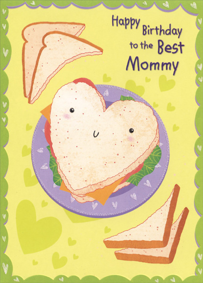 Heart Shaped Sandwich Mommy Birthday Card By Designer Greetings