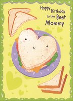 Heart Shaped Sandwich: Mommy (1 card/1 envelope) Designer Greetings Birthday Card