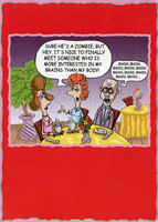 Zombie Brains (1 card/1 envelope) Designer Greetings Funny Valentine's Day Card