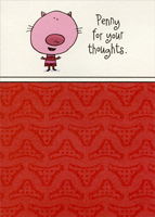 Penny for your thoughts: Wife (1 card/1 envelope) Designer Greetings Funny Valentine's Day Card