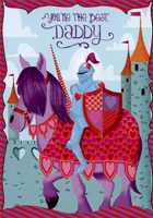 Knight on Horse: Daddy (1 card/1 envelope) Designer Greetings Juvenile Valentine's Day Card