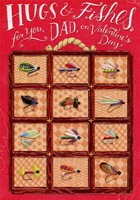Fishing Lures: Dad (1 card/1 envelope) Designer Greetings Valentine's Day Card