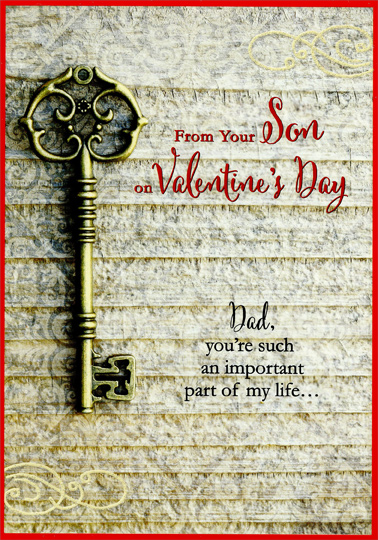 Antique Key Dad From Son Valentines Day Card By Designer Greetings