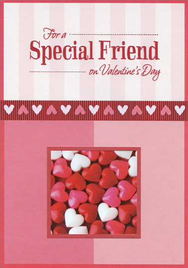 candy hearts special friend valentines day card