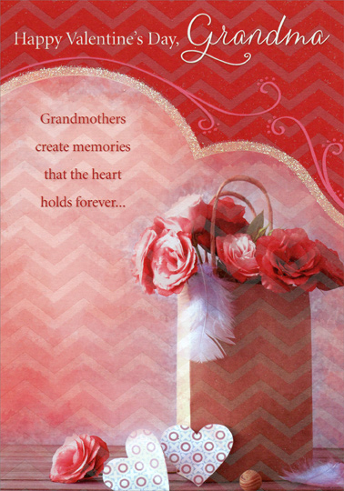 Flowers in bag grandma valentines day card by designer greetings m4hsunfo
