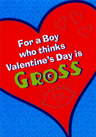 Valentine's Day is Gross: Young Boy (1 card/1 envelope) Designer Greetings Juvenile Valentine's Day Card