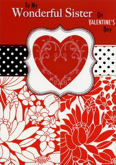 Cd11696 sparkling heart polka dots sister valentines day cardg description m4hsunfo Choice Image