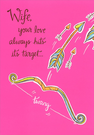 Arrows on hot pink wife valentines day card by designer greetings store categories m4hsunfo