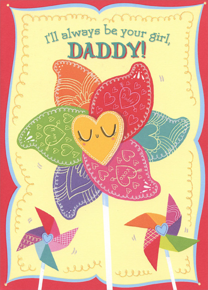 Pinwheel: Daddy From Young Girl Valentineu0027s Day Card By Designer Greetings