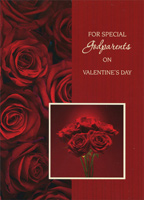 Dark Red Roses: Godparents (1 card/1 envelope) Designer Greetings Valentine's Day Card