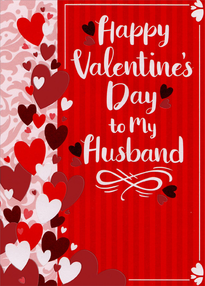 Hearts and vertical stripes husband valentines day card by hearts and vertical stripes husband valentines day card by designer greetings m4hsunfo
